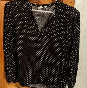 Black with white stars blouse